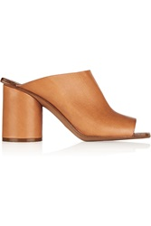 Maison Martin Margiela Leather Mules Brown