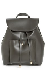 Bp. Faux Leather Backpack Grey