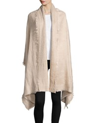 Collection 18 Fringed Brushed Wrap Beige