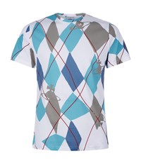 Vivienne Westwood Diamond Orb Print T Shirt Male White