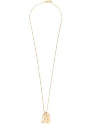 Mcq By Alexander Mcqueen Safety Pin And Razor Blade Necklace Metallic