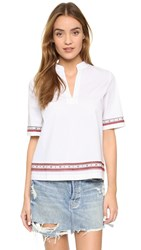 Tory Burch Tunic With Lace Detail White