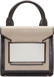 Pierre Hardy Black And Beige Mini Jane Tote