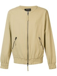 Publish Collarless Bomber Jacket Nude And Neutrals