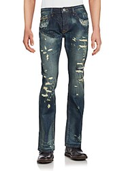 Cult Of Individuality Distressed Five Pocket Jeans Fern Wash