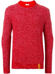 Kenzo Crew Neck Jumper Pink And Purple