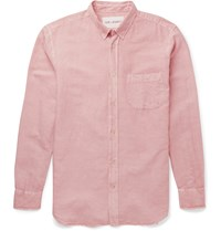 Our Legacy Slim Fit Linen And Cotton Blend Shirt Pink