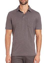 Saks Fifth Avenue Pima Cotton Polo Grey