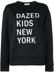 Dkny Graphic Print Sweatshirt Black