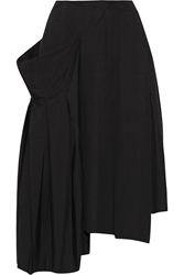 Marc By Marc Jacobs Pleated Asymmetric Stretch Cotton Midi Skirt