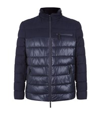 Armani Collezioni Contrast Panel Jacket Male Navy