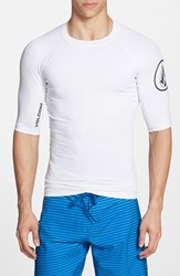 Men's Volcom Fitted Half Sleeve Rashguard