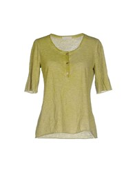 Roberto Collina Topwear T Shirts Women Green