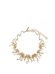 Oscar De La Renta Sea Swirl Necklace Gold