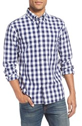 Jack Spade Men's 'Sheppard' Trim Fit Gingham Check Sport Shirt Navy