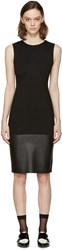 Mcq By Alexander Mcqueen Black Leather Panel Dress