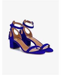 Aquazzura Pixie Block Heel Sandals Cobalt Blue