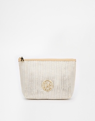 Love Moschino Woven Cosmetic Case Beige