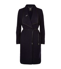 Ted Baker Reghan Boucle Wrap Coat Female Black