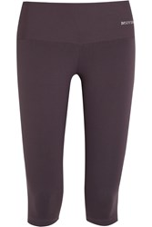 Bodyism Octavia Cropped Emana Stretch Jersey Leggings Gray