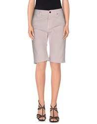 Jfour Denim Denim Bermudas Women Light Pink