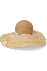 Eugenia Kim Bunny Faux Leather Trimmed Toyo Sunhat