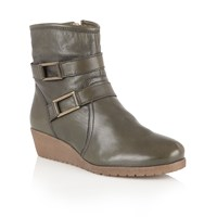 Lotus Loradi Leather Ankle Boots Green