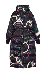 Emilio Pucci Hooded Long Down Coat Black