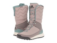 Adidas Cw Choleah High Cp Leather Vapour Grey Black Tech Earth Women's Cold Weather Boots Beige