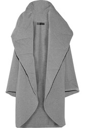 Norma Kamali Quilted Stretch Cotton Blend Coat Gray