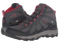 Columbia Peakfreak Xcrsn Ii Xcel Mid Outdry City Grey Bright Red Men's Shoes Brown