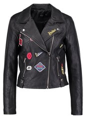 Only Onlroxie Faux Leather Jacket Black