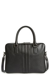Men's Tod's 'Double Stripe' Textured Leather Briefcase