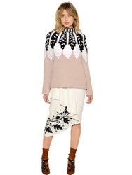 Peter Pilotto Intarsia Design Wool Blend Sweater