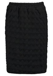 Bzr Hilary Pencil Skirt Moonless Night Black