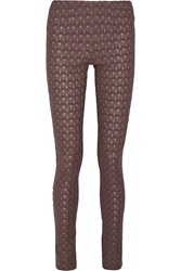 Missoni Crochet Knit Wool Blend Skinny Pants Brown