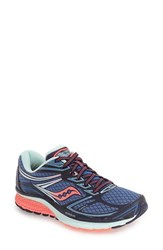 Saucony Women's 'Guide 9' Running Shoe Cobalt Coral Blue