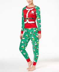 Hello Kitty Holly Jolly Christmas Pajama Set Santa