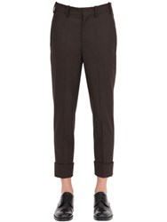 Neil Barrett Skinny Stretch Wool Flannel Pants