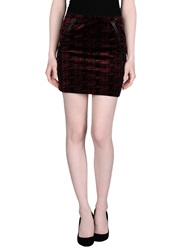 Andy Warhol By Pepe Jeans Mini Skirts Maroon
