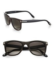 Tom Ford Leo Wayfarer Sunglasses Black Brown