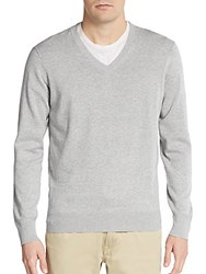 Ben Sherman V Neck Sweater Silver