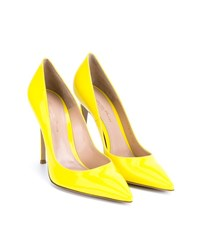 Gianvito Rossi Patent Point Toe Pumps Yellow