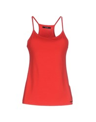 G.Sel Topwear Vests Women Red