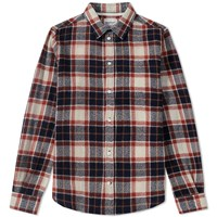 Norse Projects Anton Loose Weave Check Shirt Neutrals