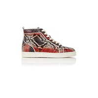 Christian Louboutin Rantus Orlato Flat Sneakers Gray. Red