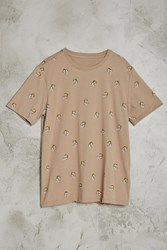 Forever 21 Tiger Print Tee Taupe Gold