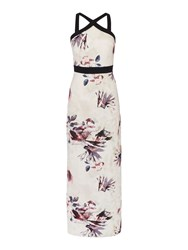 Little Mistress Sleeveless Cross Over Maxi Dress Multi Coloured Multi Coloured