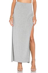 Bella Luxx Side Split Maxi Skirt Gray