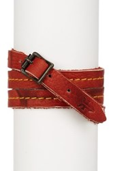 Frye Campus Wrap Leather Cuff Red